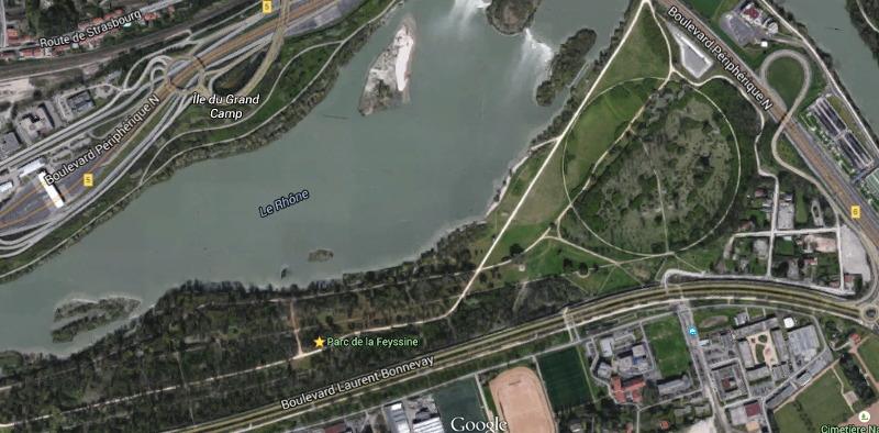 Plan satellite du parc de la Feyssine