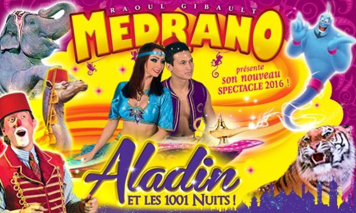 Cirque Medrano Aladdin Lyon 2016